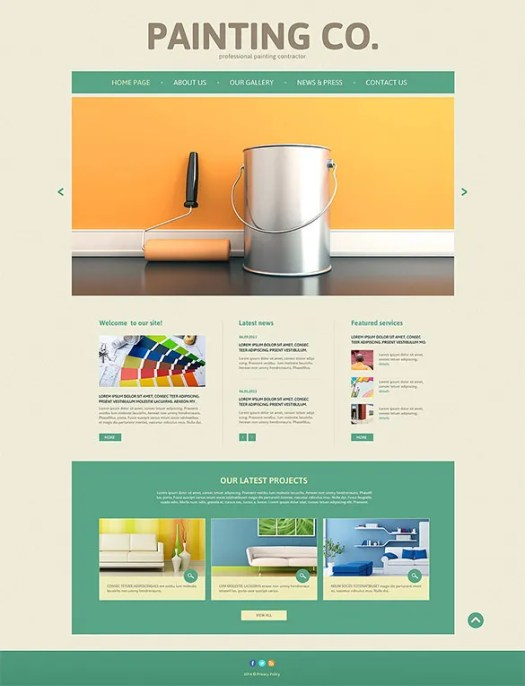 Painting Company WordPress Template