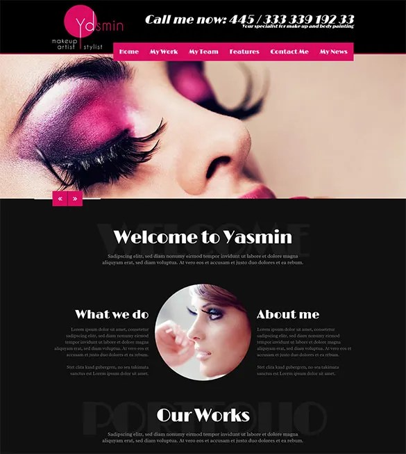 makeup artist flyer templates free