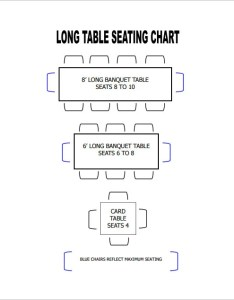 Format of long table seating chart download also template  free sample example rh