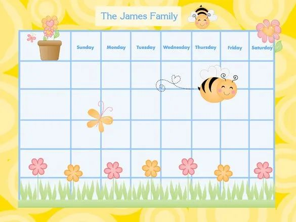 family chore chart templates