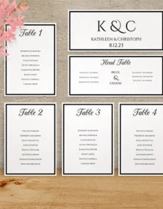 Sample wedding seating chart template also  free example format rh