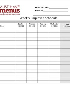 Restaurant weekly employee schedule form online also template free excel word documents rh