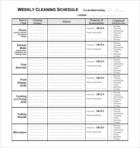 Free Restaurant Bathroom Cleaning Checklist