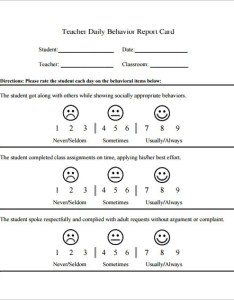 Daily behavior chart for teacher example pdf template also  free sample format download rh