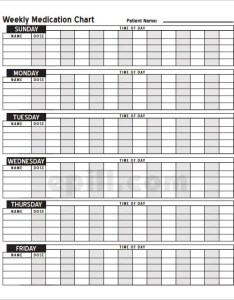 Download free  pill weekly medication schedule template also word excel pdf format rh