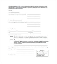 Car Bill of Sale  10+ Free Sample, Example, Format