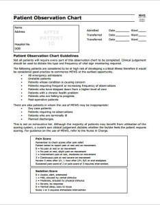 Patient observation chart sample pdf download also templates free example format rh template