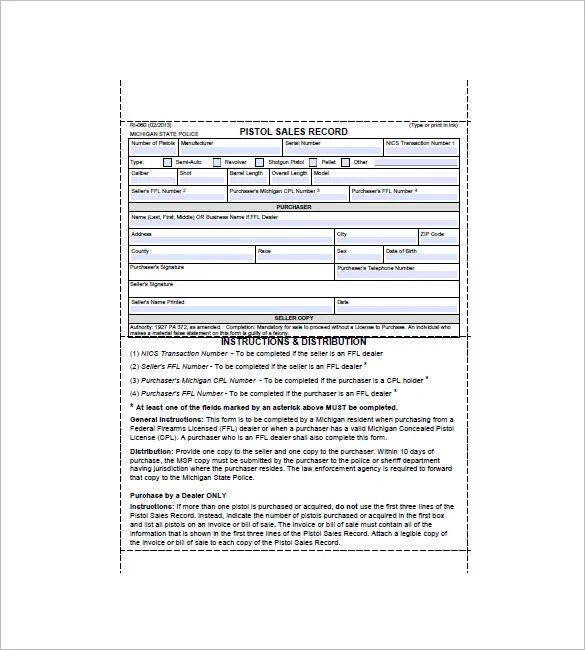 bill of sale template florida