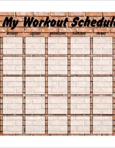 Weekly blank exercise schedule template free pdf also  word excel format rh