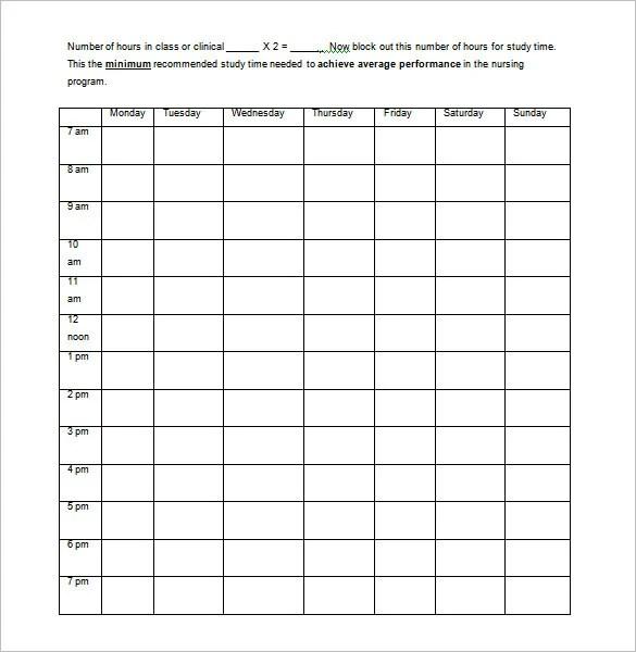 5+ Nursing Schedule Templates - DOC, Excel, PDF | Free & Premium ...