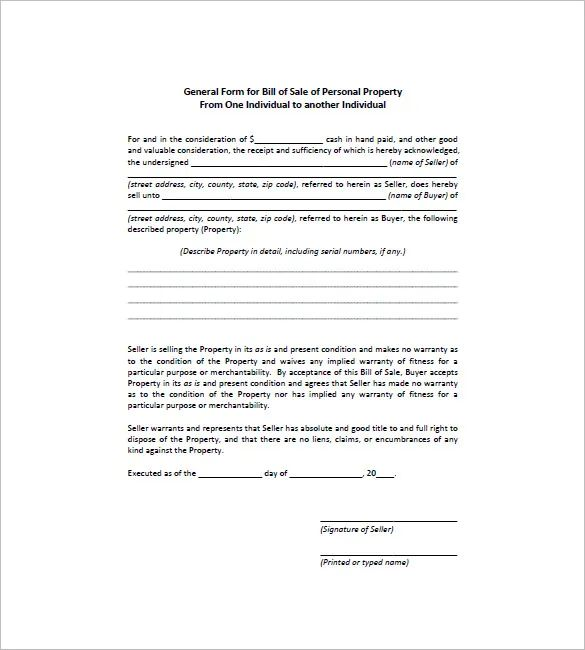 bill of sale auto form