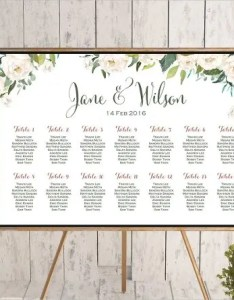 Customizable wedding seating chart template also templates pdf doc free  premium rh
