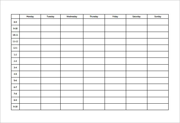 Time Study Template Excel  Free Download