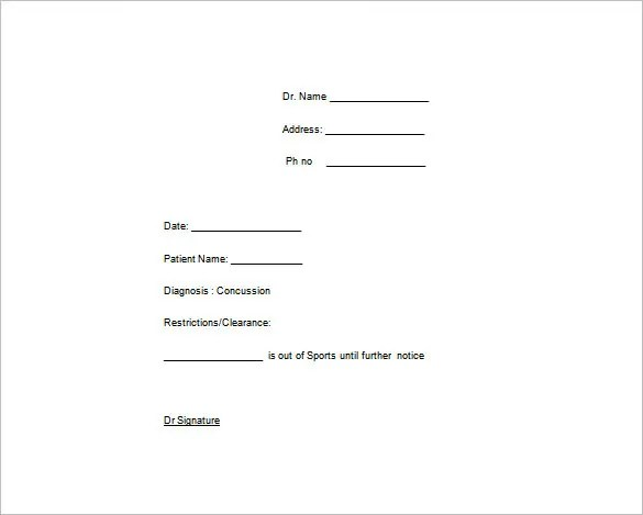 fake doctors note template pdf free download