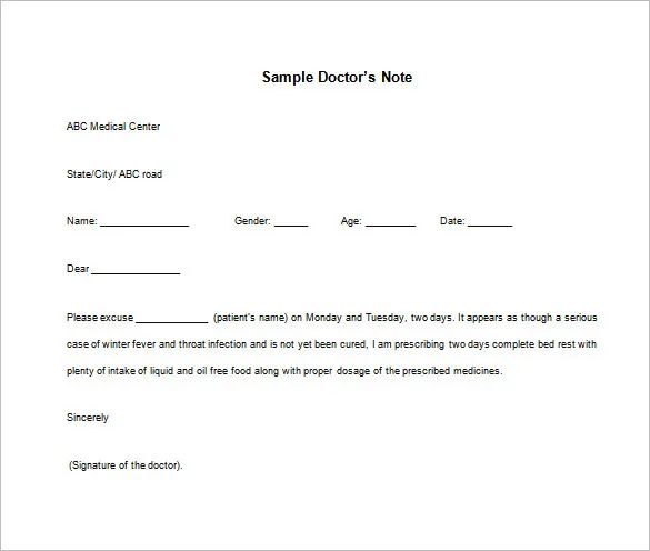 how to make a doctors note for school