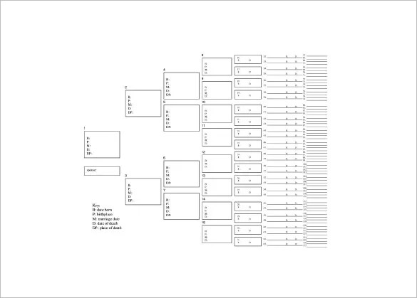 Seven Generation Family Tree Template