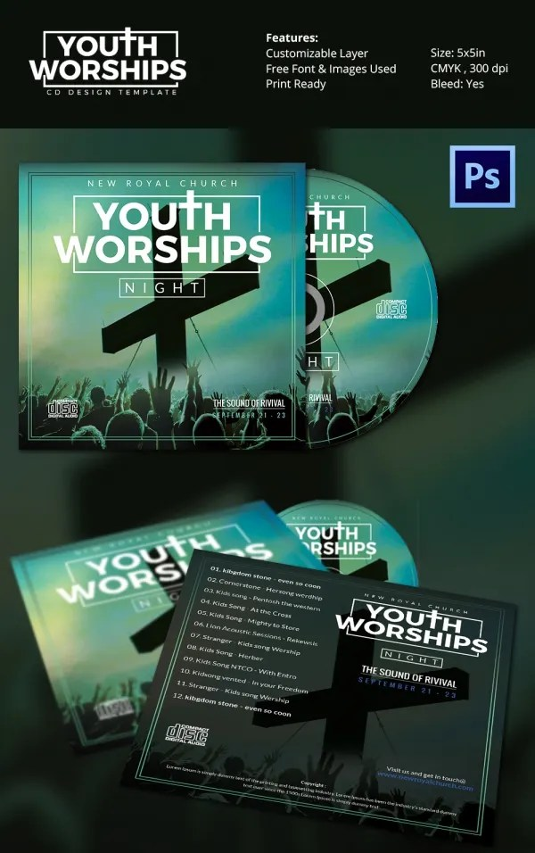CD Cover Template  51 Free PSD EPS Word Format Download  Free  Premium Templates