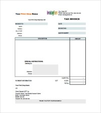Tax Invoice Templates - 16+ Free Word, Excel, PDF Format ...