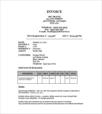 18+ Travel Invoice Templates - PDF, DOC, Excel | Free ...
