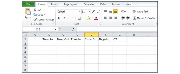 How to Create a TimeSheet in Excel