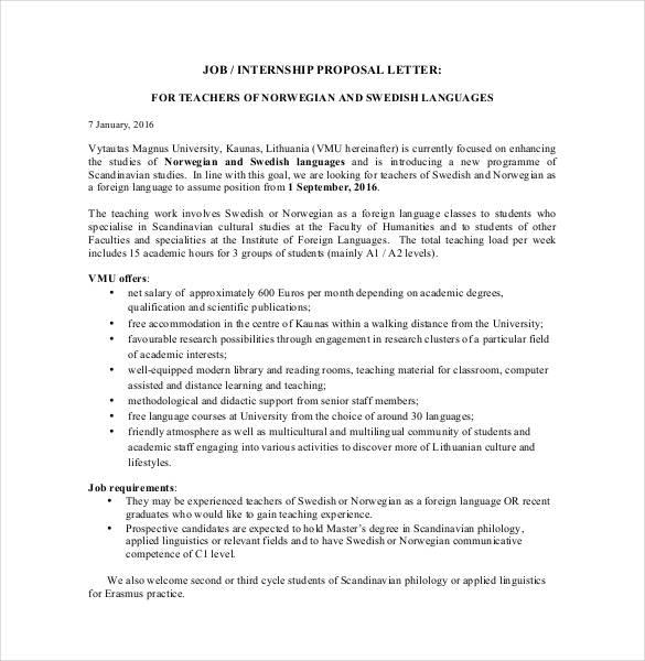 33 Proposal Letter Templates Doc