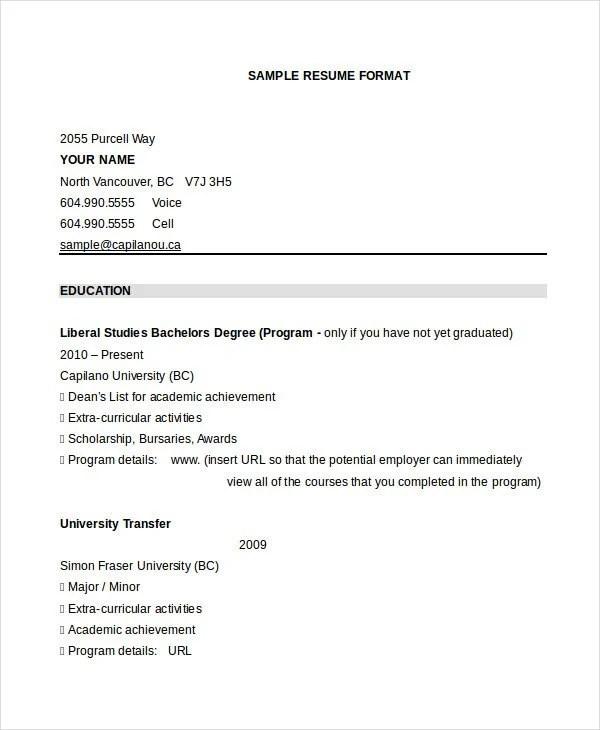 30 Best Resume Formats DOC PDF PSD Free & Premium