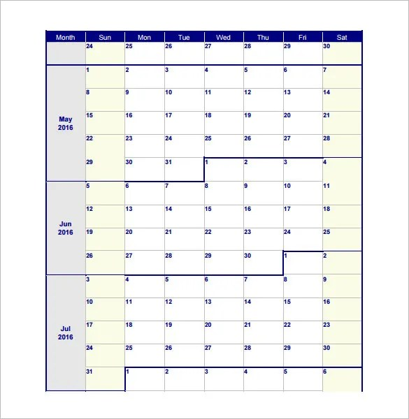 3 benefits of using an online calendar for monthly planning. 18 Blank Work Schedule Templates Pdf Docs Word Free Premium Templates