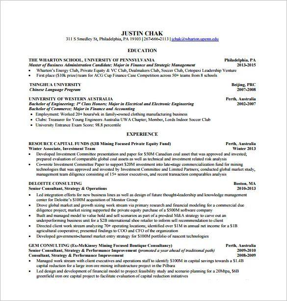 Wharton Resume Template - Resume Examples | Resume Template