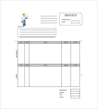 Contractor Invoice Template  8+ Free Sample, Example ...