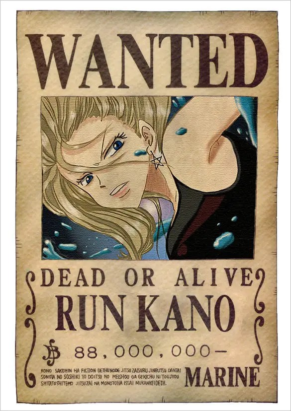12 One Piece Wanted Poster Templates u2013
