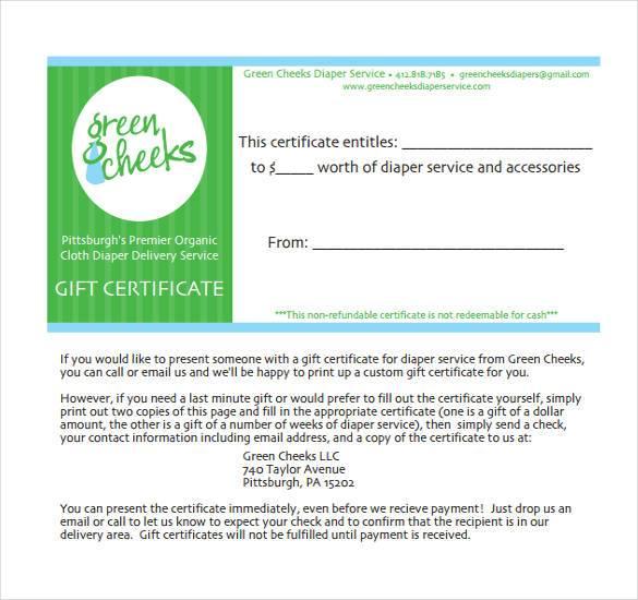 gift certificate template pdf