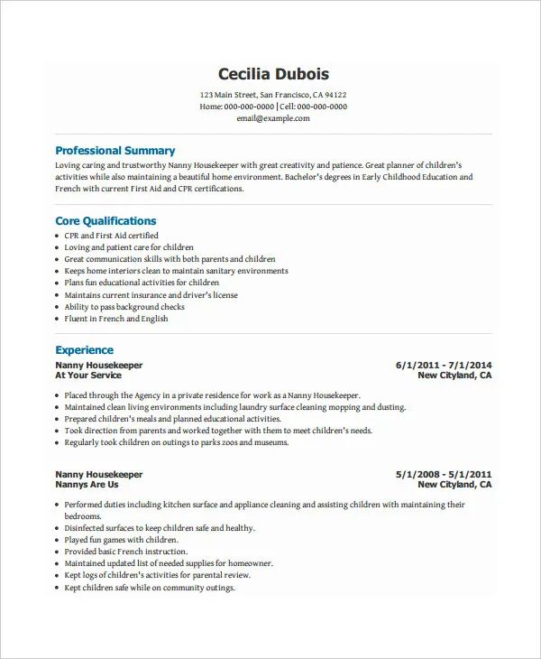 resume profile highlights