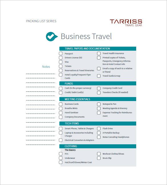business trip agenda sample