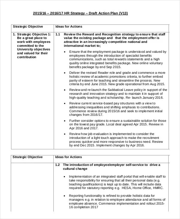 Action Plan Template 15 Free Sample Example Format