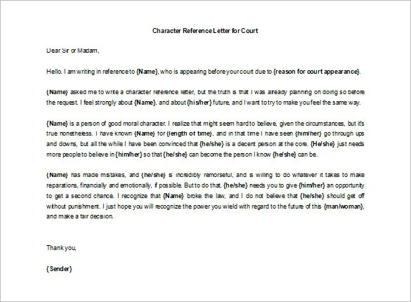 0+ Character Letters Of Recommendation - PDF, DOC
