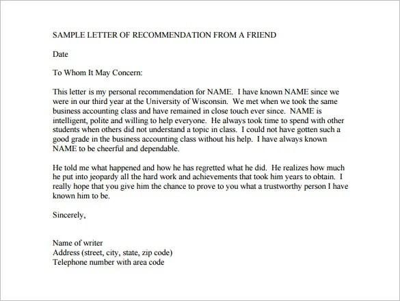 12+ College Recommendation Letters - DOC, PDF
