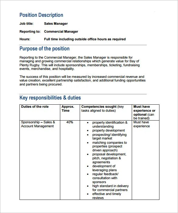 9 Property Manager Job Description Templates Free