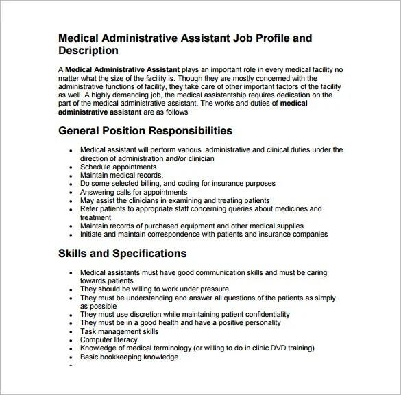 pediatric medical assistant job description