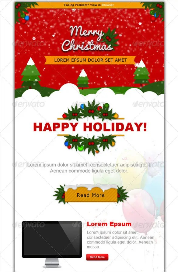 38 Christmas Email Newsletter Templates Free PSD EPS