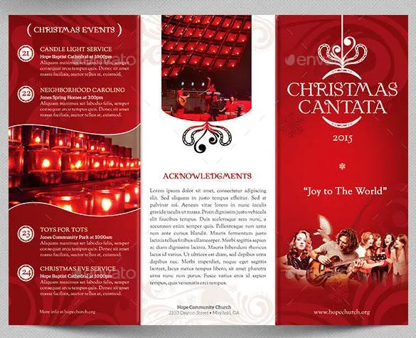 40 Christmas Brochures Templates PSD Word Publisher
