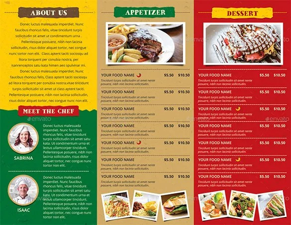 30 Restaurant Brochure Templates – Free PSD EPS AI InDesign
