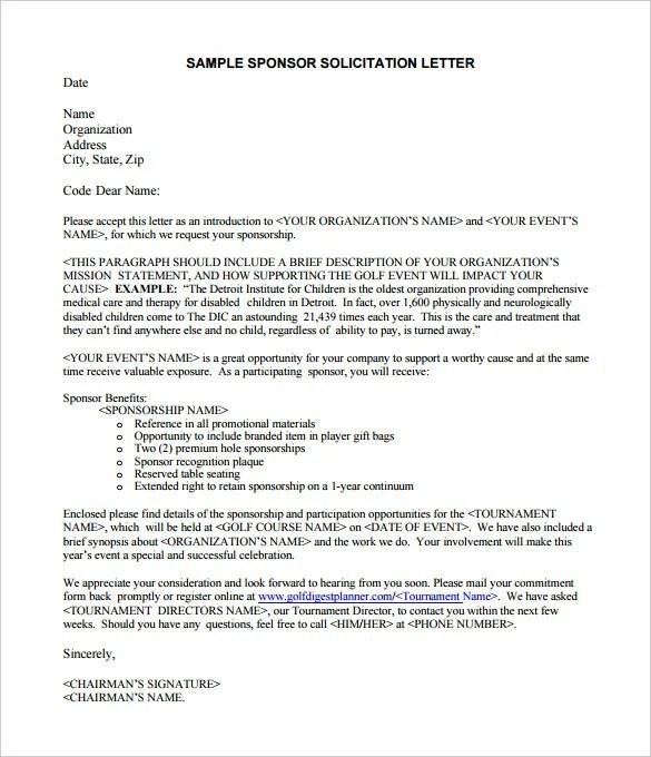 45 Sponsorship Letter Templates  PDF DOC  Free