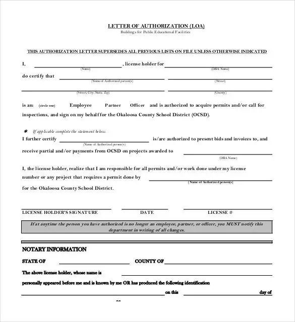 notarized statement template