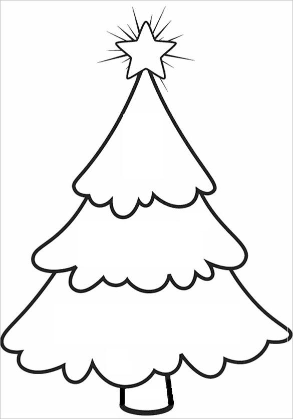 Christmas Tree Templates To Print