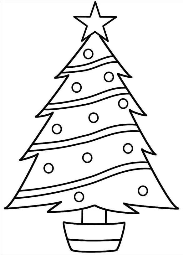 Xmas Tree Template Printable