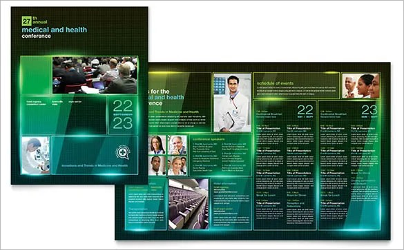 19 Conference Brochure Templates Free PSD EPS AI