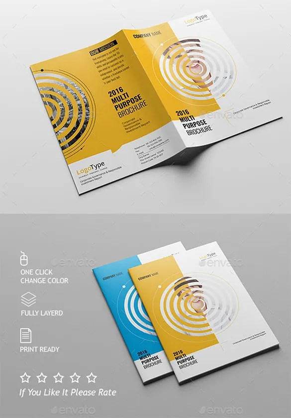 39 Half Fold Brochure Templates – Free PSD EPS AI InDesign Word