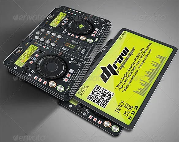 18 DJ Business Cards  Free PSD EPS AI InDesign Word PDF Format Download  Free  Premium