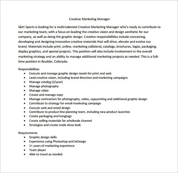 Marketing Director Job Description Template  7 Free Word PDF Format Download  Free