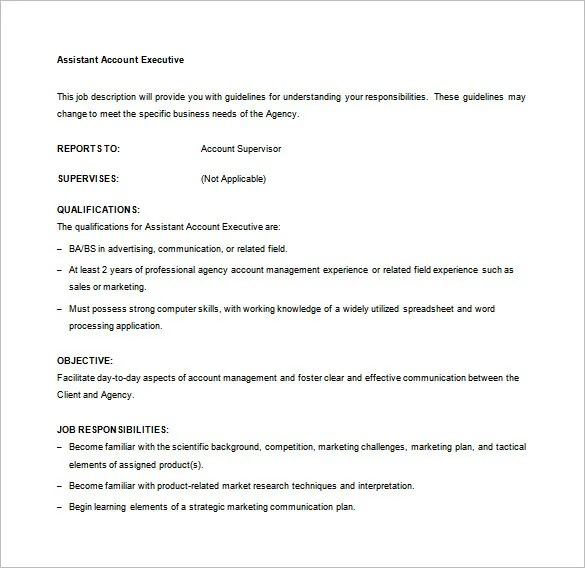 Assistant Account Executive Cover Letter - Cover Letter ...